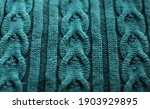 Knitted Background In Turquoise ...