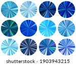 Blue Concentric Metallic...