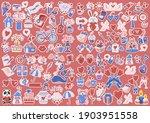 valentine illustration vector... | Shutterstock .eps vector #1903951558