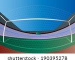 vector soccer goal and green... | Shutterstock .eps vector #190395278