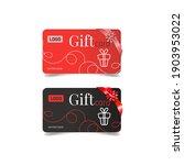 vector gift cards  orange and...   Shutterstock .eps vector #1903953022