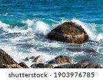 Turquoise Sea Stone Beach ...