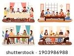 set of theme of people having...   Shutterstock .eps vector #1903986988