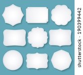 vector set of paper decorative... | Shutterstock .eps vector #190399442