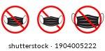 ban of medical mask. no medical ... | Shutterstock .eps vector #1904005222