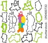 tohoku region map. six... | Shutterstock .eps vector #190400732