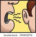 person talking whispering on... | Shutterstock .eps vector #190402076