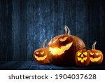 halloween design with pumpkins .... | Shutterstock . vector #1904037628
