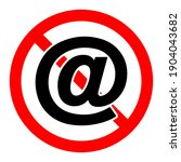 email ban icon. email is... | Shutterstock .eps vector #1904043682