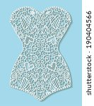 white lace retro corset with...   Shutterstock .eps vector #190404566