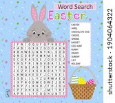 easter word search puzzle with... | Shutterstock .eps vector #1904064322