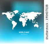 world map illustration | Shutterstock . vector #190407038