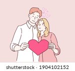 happy couple in love holding...   Shutterstock .eps vector #1904102152