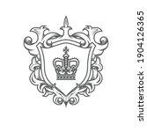 heraldic monarch blazon ... | Shutterstock .eps vector #1904126365