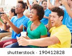 spectators in team colors... | Shutterstock . vector #190412828