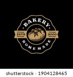 logo badge of sourdough bread... | Shutterstock .eps vector #1904128465