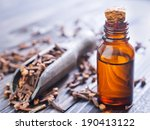 oil of cloves in a glass bottle | Shutterstock . vector #190413122