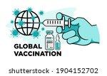 doctor hand in glove with... | Shutterstock .eps vector #1904152702