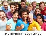 outdoor portrait of multi...   Shutterstock . vector #190415486
