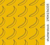 trendy banana vector seamless...   Shutterstock .eps vector #1904156335