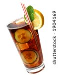 cola cocktail with lemon and... | Shutterstock . vector #1904169