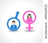 male and female icon design... | Shutterstock .eps vector #190420922