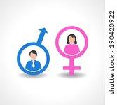 male and female icon design... | Shutterstock .eps vector #190420922