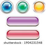 set of modern gradient buttons...