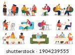 coffee house or cafe  eating... | Shutterstock .eps vector #1904239555