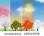 four seasons banners with... | Shutterstock .eps vector #190423958