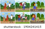 set of family people images...   Shutterstock .eps vector #1904241415
