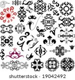 many ornament vector decorative ... | Shutterstock .eps vector #19042492