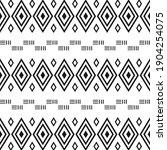 black and white tribal ethnic...   Shutterstock .eps vector #1904254075