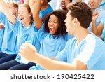 spectators in team colors... | Shutterstock . vector #190425422