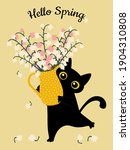 """spring greeting card """"hello...   Shutterstock .eps vector #1904310808"""