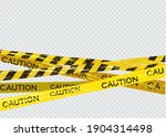 caution lines isolated. warning ... | Shutterstock .eps vector #1904314498