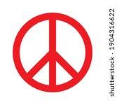 peace symbol  sign  vector...   Shutterstock .eps vector #1904316622