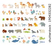 collection of funny wild...   Shutterstock .eps vector #1904332282