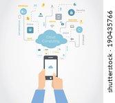 cloud computing technology... | Shutterstock .eps vector #190435766