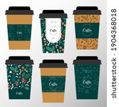 branded paper coffee cup design ... | Shutterstock .eps vector #1904368018