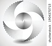 halftone dots in circle form.... | Shutterstock .eps vector #1904370715