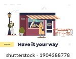 people eating and ordering in... | Shutterstock .eps vector #1904388778