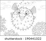 puffer fish | Shutterstock .eps vector #190441322