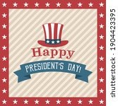 president's day poster on beige ...   Shutterstock .eps vector #1904423395