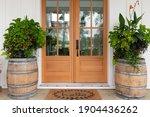 Modern Rustic Front Door Of A...