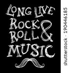 rock and roll vector slogan | Shutterstock .eps vector #190446185