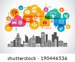 digital community. concept... | Shutterstock .eps vector #190446536