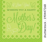 papel picado mother's day card... | Shutterstock .eps vector #190447268