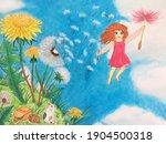 The Little Fairy Girl Flying...