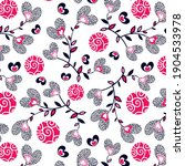 flowers from hearts with floral ...   Shutterstock .eps vector #1904533978